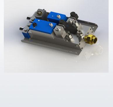 Custom designed gas mixing module